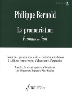 La Prononciation Philippe Bernold Partition laflutedepan