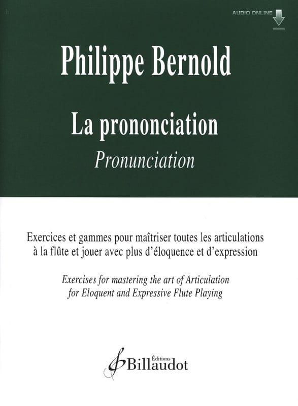 La Prononciation - Philippe Bernold - Partition - laflutedepan.com