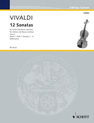 12 Sonates op. 2 Volume 1 VIVALDI Partition Violon - laflutedepan