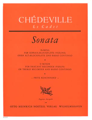 Sonata D-Moll - Sopranblockflöte U. Bc laflutedepan