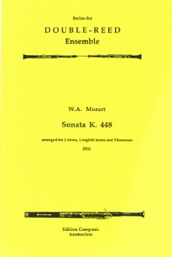 Sonata KV 448 -2 Oboes 2 english horns 2 bassoons - Score + parts laflutedepan