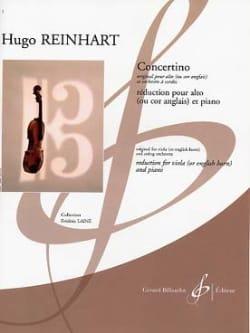 Concertino Hugo Reinhart Partition Alto - laflutedepan