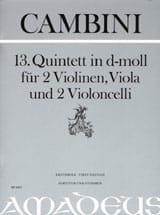 Quintette Nr. 13 En Ré Min. Giuseppe Maria Cambini laflutedepan