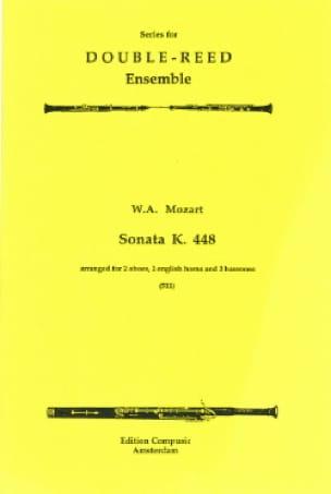 Sonata KV 448 -2 Oboes 2 english horns 2 bassoons - Score + parts - laflutedepan.com