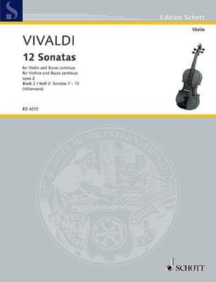 12 Sonates op. 2 Volume 2 VIVALDI Partition Violon - laflutedepan