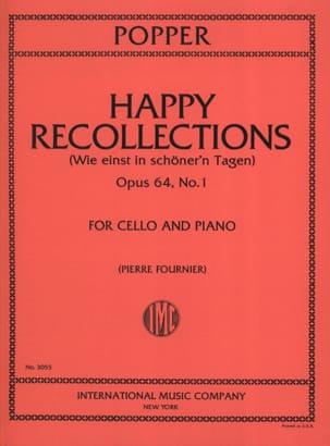 Happy Recollections op. 64 n° 1 David Popper Partition laflutedepan