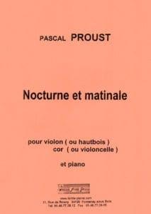 Nocturne et Matinale Pascal Proust Partition Trios - laflutedepan