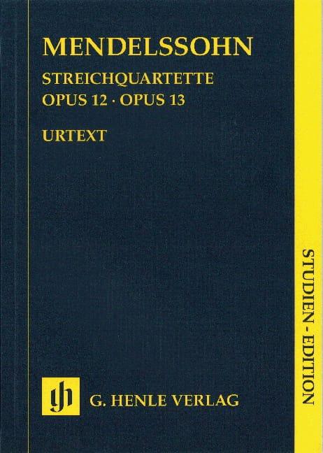 Quatuors à cordes op. 12 et 13 - MENDELSSOHN - laflutedepan.com