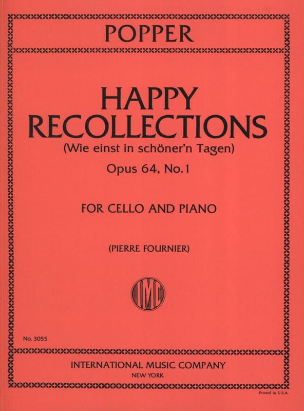 Happy Recollections op. 64 n° 1 - David Popper - laflutedepan.com