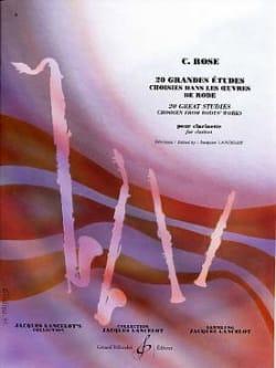 20 Grandes Etudes Rose Cyrille / Lancelot Jacques laflutedepan
