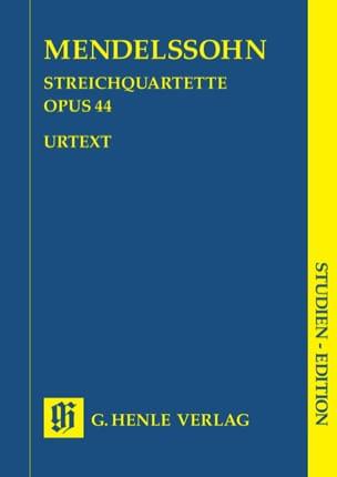 Quatuors à cordes op. 44 MENDELSSOHN Partition laflutedepan