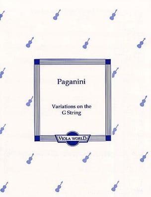 Variations On The G-String - Viola PAGANINI Partition laflutedepan