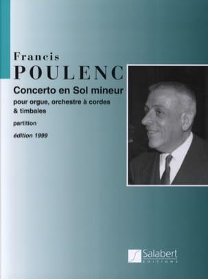 Concerto en sol mineur pour Orgue - Conducteur POULENC laflutedepan