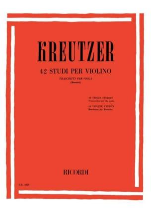 42 Studi per Violino - Viola Bennici Rodolphe Kreutzer laflutedepan