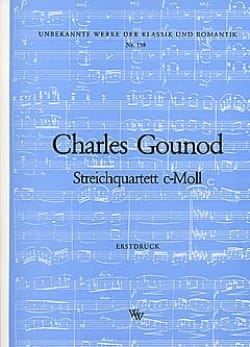 Quatuor à cordes en ut mineur -Stimmen GOUNOD Partition laflutedepan