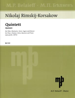 Bläserquintett op. posth. 1876 -Flöte Klarinette Horn Fagott Klavier laflutedepan