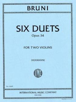6 Duos op. 34 Antonio Bartolomeo Bruni Partition Violon - laflutedepan