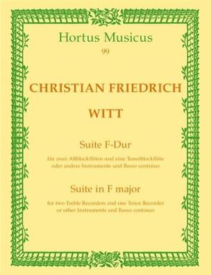Suite in F-Dur - 2 Altblockflöten Tenorflöte Bc laflutedepan