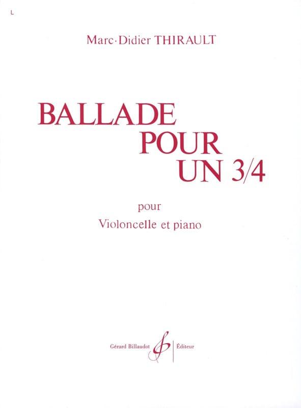 Ballade pour un 3/4 - Marc-Didier Thirault - laflutedepan.com