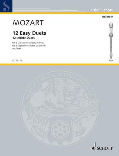 12 Easy duets - 2 descant recorders or violins - laflutedepan.com