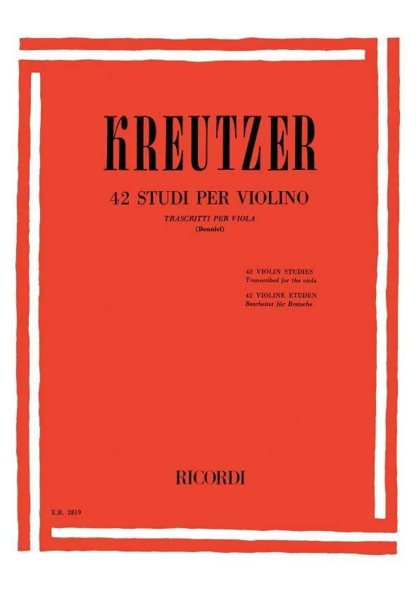 42 Studi per Violino - Viola Bennici - laflutedepan.com