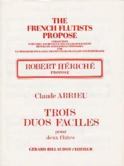 Trois duos faciles - 2 Flûtes - Claude Arrieu - laflutedepan.com