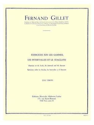 Exercices sur les gammes Hautbois Fernand Gillet laflutedepan