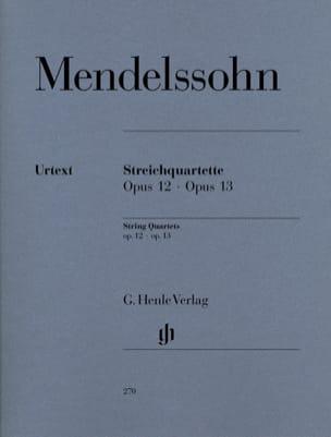 Quatuors à cordes op. 12 et 13 MENDELSSOHN Partition laflutedepan