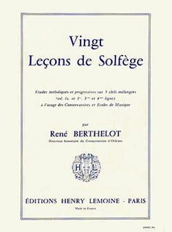 20 Leçons 5 Clés - sans acc. René Berthelot Partition laflutedepan