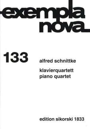 Klavierquartett -Stimmen SCHNITTKE Partition Quatuors - laflutedepan