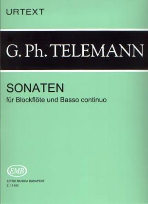 Sonaten -Blockflöten u. Bc - TELEMANN - Partition - laflutedepan.com