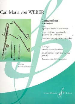 Concertino en mib majeur op. 26 Carl Maria von Weber laflutedepan