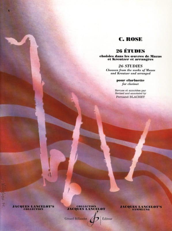 26 Etudes - Cyrille Rose - Partition - Clarinette - laflutedepan.com