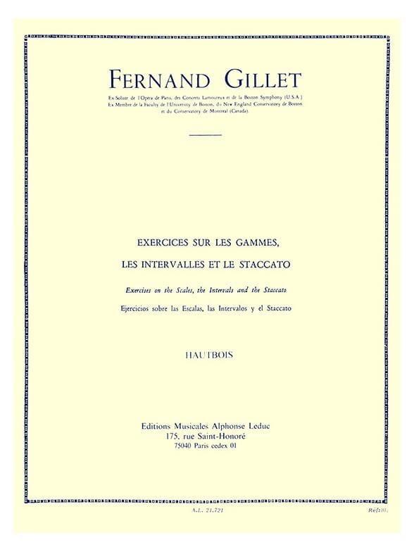 Exercices sur les gammes Hautbois - Fernand Gillet - laflutedepan.com