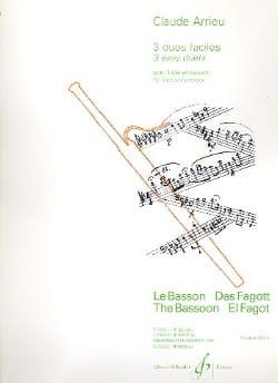 Trois duos faciles - Flûte basson Claude Arrieu Partition laflutedepan