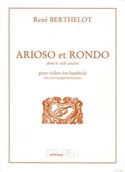 Arioso et Rondo René Berthelot Partition Violon - laflutedepan