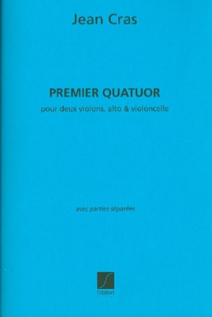 Quatuor à Cordes n° 1 Jean Cras Partition Quatuors - laflutedepan