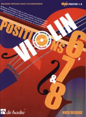 Positions 6, 7 & 8 - Violon Nico Dezaire Partition laflutedepan