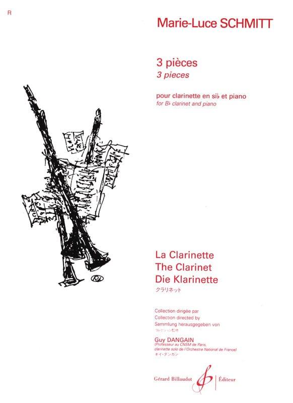 3 Pièces - Marie-Luce Schmitt - Partition - laflutedepan.com