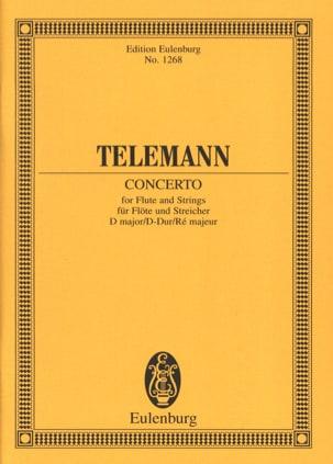 Flöten-Konzert D-Dur TELEMANN Partition Petit format - laflutedepan