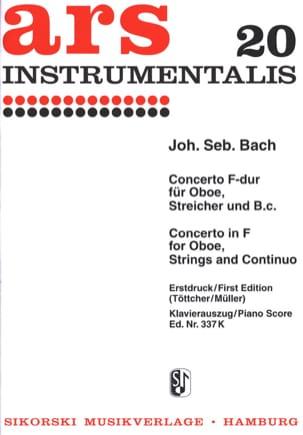 Konzert F-Dur - Oboe Klavier BACH Partition Hautbois - laflutedepan