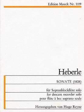 Sonate 1808 - Sopranblockflöte Anton Heberle Partition laflutedepan