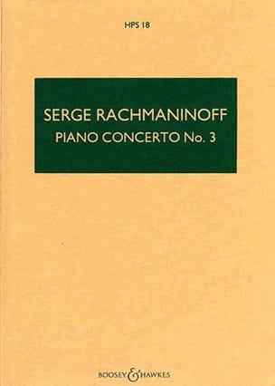 Concerto Piano n° 3 op. 30 RACHMANINOV Partition laflutedepan