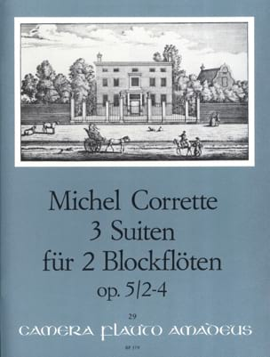 3 Suiten für 2 Blockflöten op. 5/2-4 CORRETTE Partition laflutedepan