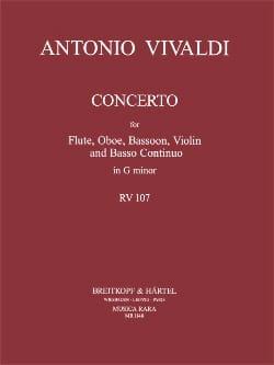 Concerto En Sol Mineur - Rv 107 VIVALDI Partition laflutedepan