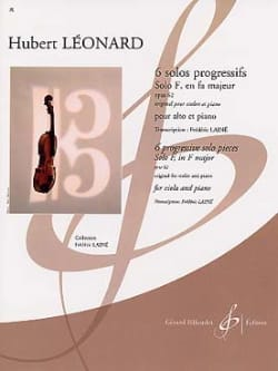 Solo F en fa majeur op. 62 Hubert Léonard Partition laflutedepan