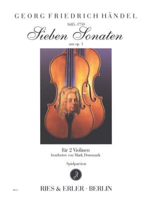 7 sonates de l'opus 1 HAENDEL Partition Violon - laflutedepan