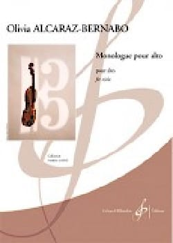 Monologue Olivia Alcaraz-Bernabo Partition Alto - laflutedepan