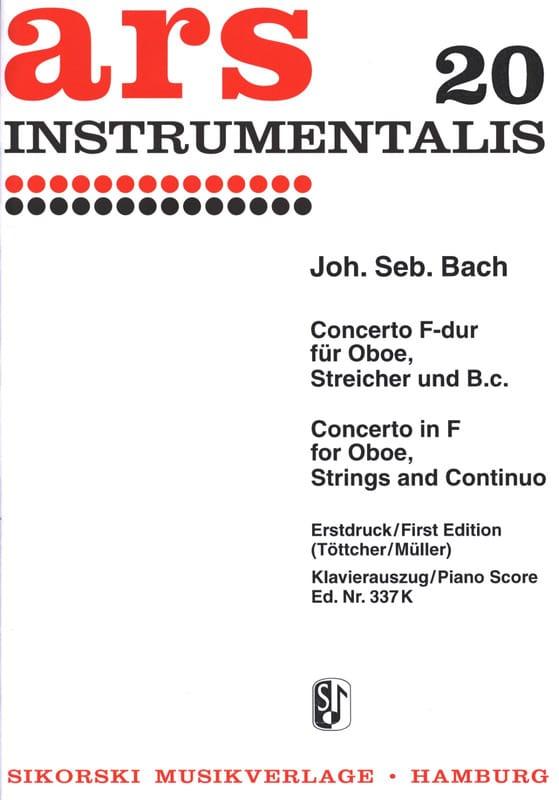 Konzert F-Dur - Oboe Klavier - BACH - Partition - laflutedepan.com