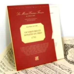 Ouvertures et Sonates en trio 1753 - Fac similé - laflutedepan.com
